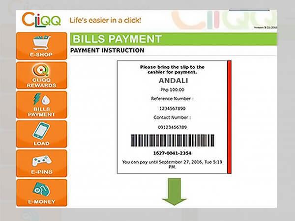 Andali ECPay Bills Payment